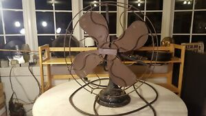 "Patent 1914 CENTURY 16"" Brass Blade+Cage Fan S 3 Restoration Project"