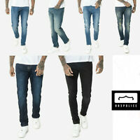 883 Police Mens Slim Fit Stretch Designer Vintage Classy Distress Denim Jeans