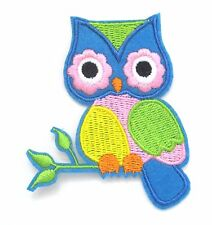 Owl Iron On Patch- Bird Animal Embroidered Badge Applique Crafts
