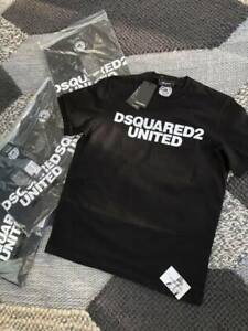 "BNWT DSQUARED2 Logo Crew tshirt in Black    reg fitting   XXL.      / p2p 24"""