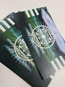 Glasgow Celtic Champion 3 Stripe Stickers - 18 Pack