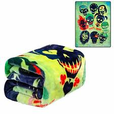 DC Comics Suicide Squad Harley Quinn, Joker and Team Twin Size Throw Blanket
