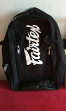 Fairtex Bag8 Black Muay Thai Mma Compact Back Pack Rucksack Gym Bag
