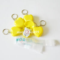 20pcs KeyChain CPR Face Sheild Mouth To Mouth Rescue Yellow First Aid Training