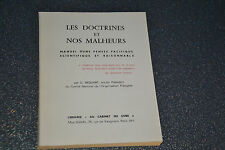 Les doctrines et nos malheurs. signé par l'auteur  G. Bequart (B1)