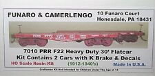 Funaro F&C HO PRR F22 Heavy Duty 30' flatcar 2 per kit  7010