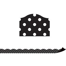 Black Polka Dots Magnetic Border Teacher Created Resources Tcr77124