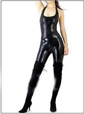Details about  New! Lycra Zentai spandex Unisex catsuit Black S-XXL -- Open eye