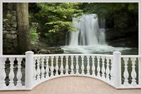 Huge 3D Balcony Waterfall Wall Stickers Film Mural Art Decal Wallpaper 6