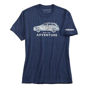 Subaru Map The Adventure Tee Shirt Impreza Sti T Official Genuine WRX NEW OEM