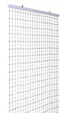 Silver Glamorous Hanging Disco Ball Beaded Door Curtain Home Decorative 80x180cm