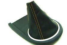 Fits 03-08 Hyundai Tiburon Synthetic Leather Manual Shift Boot Yellow Stitch