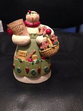 BLOSSOM BUCKET SNOWMAN GINGERBREAD MAN COOKIE BAKER - NEW RETIRED
