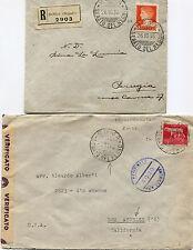 REGNO E LUOGOTENENZA, 2 BUSTE, ANNULLI SENATO DEL REGNO, 1936, NOV 1945        m