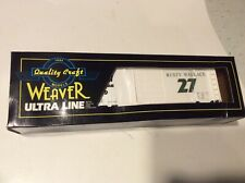 Weaver O-GAUGE: Rusty Wallace  Nascar White  # 27  Box Car MIB