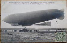 Airship/Dirigible/Blimp 1907 Realphoto French Aviation Postcard: Le Patrie