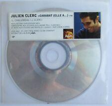 "JULIEN CLERC - CD SINGLE PROMO ""CARABAT (ELLE A...)"""