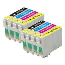 8 Cartucce d'Inchiostro (Set) per Epson Stylus D120 DX7400 SX115 SX610FW