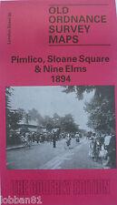 OLD Ordnance Survey  Map Pimlico Sloane Square & Nine Elms London 1894 S88  New