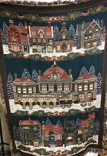 Dept 56 Dickens Village Series Woven Throw Blanket