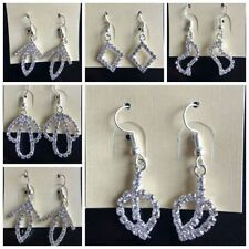 new Jewelry Hand Made Sweet Crystal drop Strass Dangle Earrings For Women Girl