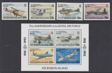 ASCENSION 1993 RAF anniversary MINT set & sheet sg595-599 MNH