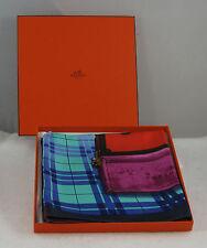 Hermes Silk Scarf Harrods Exclusive H En Voyage Suitcase Trunks Authentic