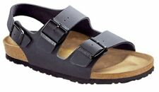 Birkenstock Sandale mit Fersenriemen Milano Basalt Birko-Flor/Nubuk Normal Unise