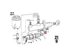 Genuine BMW 02 Cabrio Sedan Clutch Input Master Cylinder OEM 21521104510