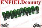 10 GREEN COLOR WEDGE BASE CAR SCOOTER MOTORBIKE BULBS 12V-3.4W 9.8/18/23mm @DE