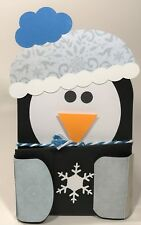 Christmas Handmade Gift Card Holders - Snow Penguin