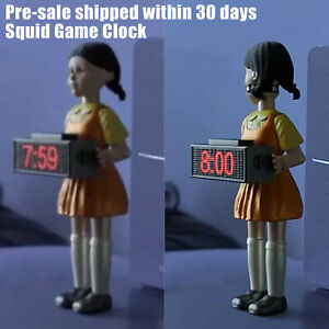【Pre sale】Squid Game Alarm Clock Red Light Doll Clock Funny Doll Home Alarm Gift