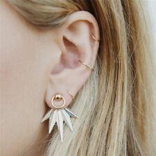 5PCS Geometric Leaf Drop Dangle Earrings Ear Stud Earrings Set Women Jewelry _T