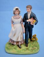 NORMAN ROCKWELL MUSEUM VACATION BOY AND GIRL FIGURINE