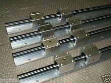 16mm linear slide guide SBR16-500/1000mm 4 rails+8 SBR16UU bearing block CNC set