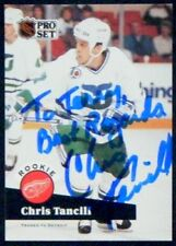 Chris Tancill Detroit Red Wings 1991-92 Pro Set ProSet Signed Card