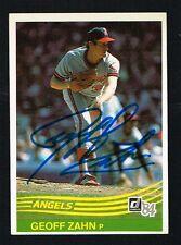 Geoff Zahn #402 signed autograph auto 1984 Donruss Baseball Trading Card