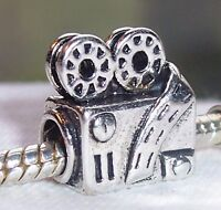 Retro Movie Projector Film Camera Hollywood Theater Charm for European Bracelet