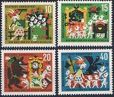 408-411 ** BRD 1963,  Wohlfahrt. Der Wolf und die 7 Geisslein