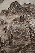 ORIGINAL ASIAN PAINTING WOODBURNING DRAWING,  ART, PYROGRAPHY_KOREAN LANDSCAPE