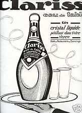 1924,Publicité Eau Gazeuse CLARISS' -Rochefort-Grenoble