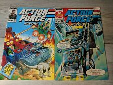 Marvel Comics: Action Force Monthly Issue 8 Jan 1989 & Issue 11 April 1989