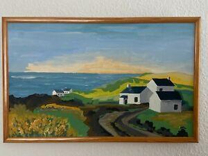 2 Gemälde Naive Malerei j.P. Laurent Mayenne, Öl auf Lienwand