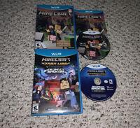 Minecraft: Wii U Edition & Story Mode Complete Edition Nintendo Wii U Lot Bundle