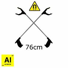 PICK UP REACHING TOOL ALUMINIUM 2 PCS MAGNET LITTER PICKER GRABBER 76cm MOBILITY