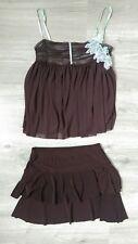 Ensemble top, débardeur, jupe, lingerie femme Kookai, marron taille 36