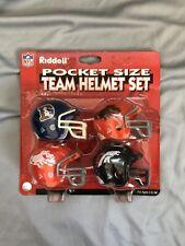 Riddell Denver Broncos Pocket Pro Football Helmet Set RARE