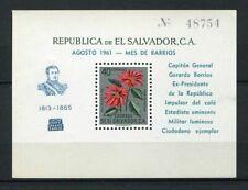 27344) EL SALVADOR 1960 MNH** Nuovi** Flowers silver ovptd Cpt Barrios