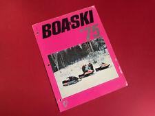 BOA-SKI •  Vintage 1975 Snowmobile Sales Brochure SS Mark I II 292 340 440