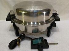 Lustre Craft Electric Skillet Liquid Core Dome Lid West Bend Saladmaster $700